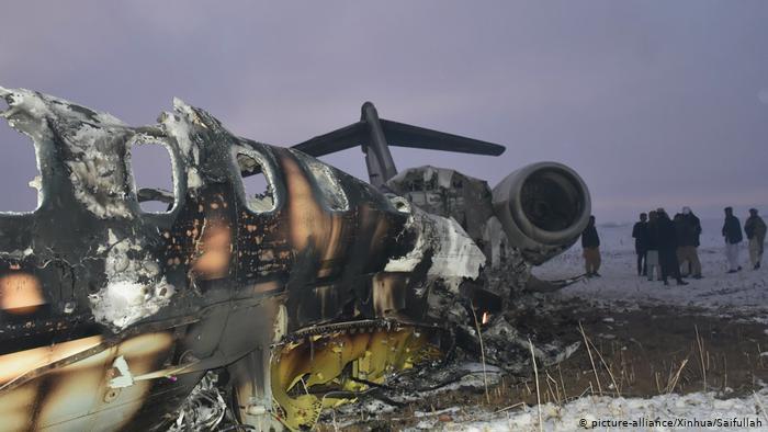अमेरिकी सैनिक विमान दुर्घटना, तालिवानले खसालेको दाबी