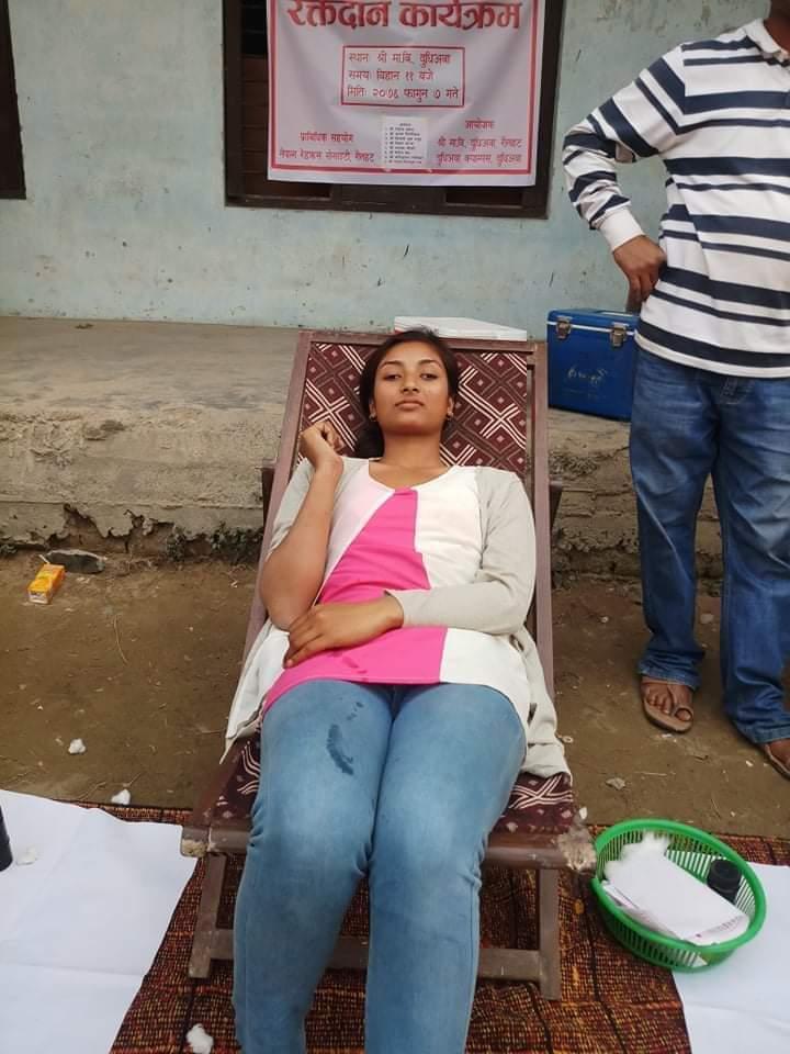 रौतहटको फतुवा विजयपुर नगरपालिकाको दुधिअवामा रक्तदान कार्यक्रम सम्पन्न